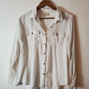 White button down.